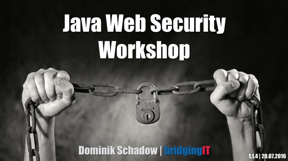 Java-Web-Security-Workshop